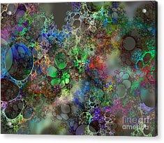Bubbles Acrylic Print by Klara Acel