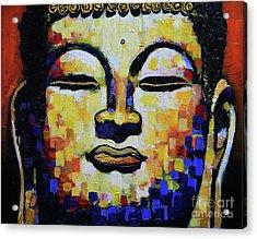 Buddha Head Acrylic Print by Stephen Humphries