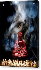 Buddha In Smoke Acrylic Print