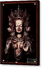 Buddhist Tara Deity Acrylic Print by Tim Gainey
