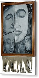 Buddish Facial Reactions Acrylic Print