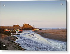 Bude Cornwall England Summerleaze Beach Acrylic Print by Colin and Linda McKie