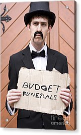 Budget Funerals Acrylic Print by Jorgo Photography - Wall Art Gallery