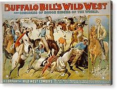 Buffalo Bills Wild West Acrylic Print by Unknown