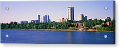 Buildings At The Waterfront, Arkansas Acrylic Print by Panoramic Images