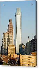 Buildings In A City, Comcast Center Acrylic Print by Panoramic Images