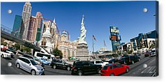 Buildings In A City, New York New York Acrylic Print by Panoramic Images