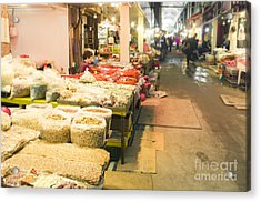 Bujeon Market In Busan Acrylic Print by Tuimages