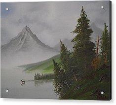 Bull Lake Acrylic Print by Caleb Mitchell