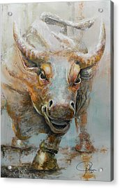 Bull Market W Redo Acrylic Print by John Henne