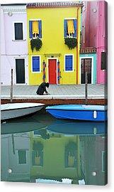 Acrylic Print featuring the photograph Burano Italy by John Jacquemain