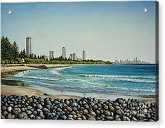 Burleigh Beach 210808 Acrylic Print