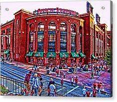 Busch Stadium Acrylic Print by John Freidenberg