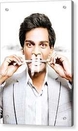 Business Person Under Psychological Stress Acrylic Print