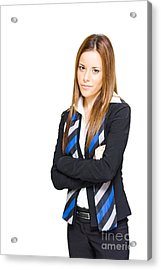 Business Professional Isolated On White Background Acrylic Print by Jorgo Photography - Wall Art Gallery