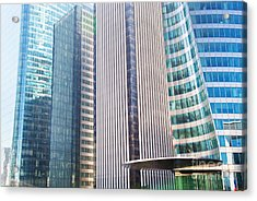 Business Skyscrapers Modern Architecture Acrylic Print by Michal Bednarek