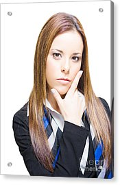 Business Woman Thinking Ahead With Business Vision Acrylic Print