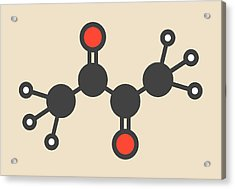 Butter Flavouring Molecule Acrylic Print by Molekuul
