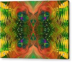 Butterfly Matrix Acrylic Print by Georgiana Romanovna