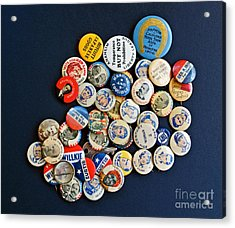 Buttons Acrylic Print by Gwyn Newcombe