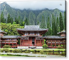 Byodo-in Temple 1 Acrylic Print by Leigh Anne Meeks