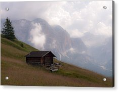 Cabin In The Dolomites Acrylic Print