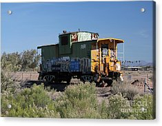 Caboose  Acrylic Print by Diane Greco-Lesser