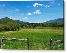 Cades Cove Acrylic Print by Melinda Fawver