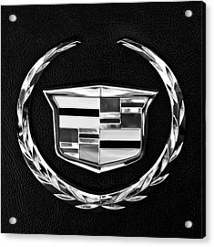 Acrylic Print featuring the photograph Cadillac Emblem by Jill Reger