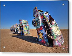 Cadillac Ranch Acrylic Print by Peter Tellone