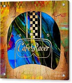 Cafe Racer Motorcycle Helmet Acrylic Print
