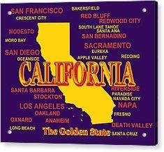 California State Pride Map Silhouette  Acrylic Print