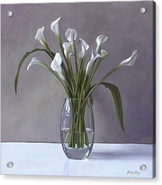 Calla Lilies In A Vase Acrylic Print
