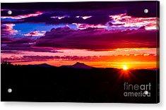 Camel's Hump Sunset.  Acrylic Print