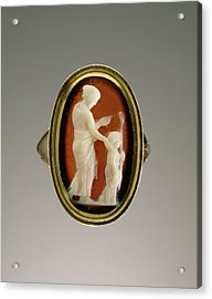 Cameo Set Into A Ring Unknown Gem 1st Century Ring Modern Acrylic Print