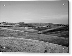 Tarquinia Landscape Campaign With Aqueduct And Houses Acrylic Print