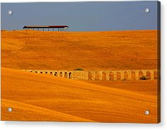 Tarquinia Landscape Campaign With Aqueduct Acrylic Print