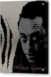 Camus Acrylic Print by Asok Mukhopadhyay