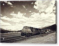 Canada Rail Acrylic Print