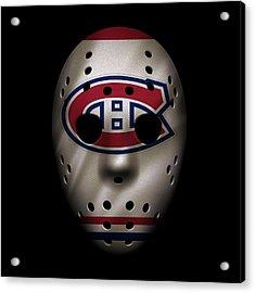 Canadiens Jersey Mask Acrylic Print by Joe Hamilton