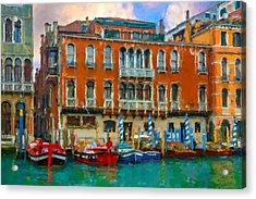 Acrylic Print featuring the photograph Canal Grande. Venezia by Juan Carlos Ferro Duque