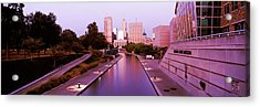 Canal In A City, Indianapolis Canal Acrylic Print