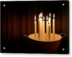 Candle Light Acrylic Print by Heike Hultsch