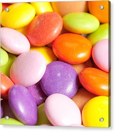 Candy Background Acrylic Print by Tom Gowanlock