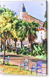 Cannes Carlton Hotel Acrylic Print