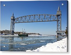Cape Cod Train Bridge Acrylic Print