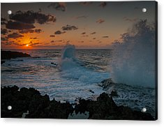 Cape Zampa Sunset Acrylic Print