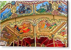 Carcassonne Carousel Acrylic Print by France  Art