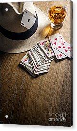Card Gambling Acrylic Print
