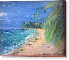 Acrylic Print featuring the painting Caribbean Landscape by Egidio Graziani